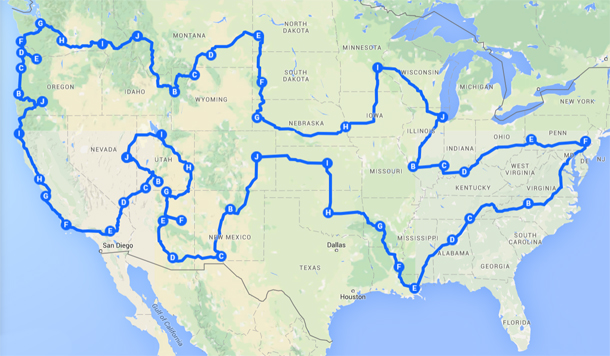 Say Hello To America Route